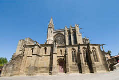 Church of carcassonne chateau. Saint-Nazaire church of carcassone chateau france Royalty Free Stock Photos