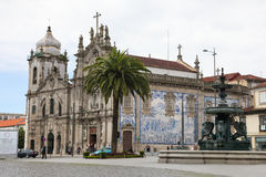 Church of the Carmelites and Our Lady of Mount Carmel in Porto Stock Image
