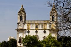 Church of Carmo. View of the church of Carmo located on Faro, Portugal Royalty Free Stock Photography