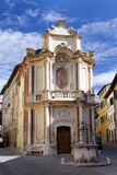 Church Casa del Cavallo nel centro storico di Siena, Toscana, Italia Immagine Stock