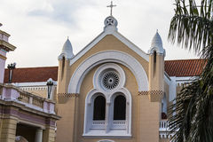 Church in Casco Viejo, Panama City Stock Photo