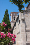 Church in Cassis. View on the bell tower of the church of Cassis in France Stock Photo