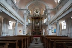 Church in Germany. Church in castell in south Germany in Bavaria stock images