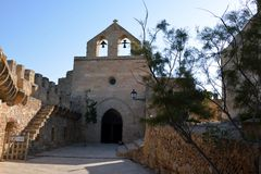 Church in the Castle of Capdepera Stock Image