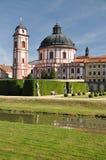 Church and castle, Jaromerice nad Rokytnou, Czech republic, Europe. Old church and castle, Jaromerice nad Rokytnou, Czech republic, Europe Stock Images