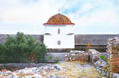 Church at the castle of Monemvasia Peloponnese Greece Royalty Free Stock Image