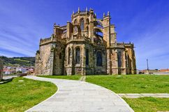 Church of Castro Urdiales. Royalty Free Stock Photo