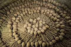 Church Catacombs, Bones, Dead People Stock Image