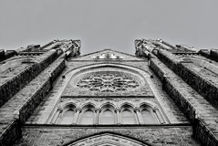 Church Cathedral Facade. Facade of a gothic revival cathedral in Elizabeth, NJ Stock Photography