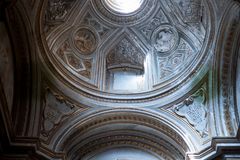 Church Cathedral Interior with Ancient Historical Decoration Art Rome Italy 2013 Royalty Free Stock Photos