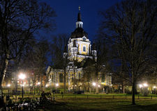 Church of Catherine in Stockholm at evening Stock Image