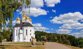 Church. Catherines Church (early 18th century) in the city of Chernihiv, Ukraine Royalty Free Stock Images