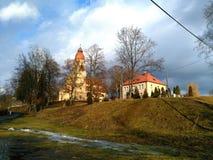 Church. Catholic Church. Štěchovice, Czech Republic stock image