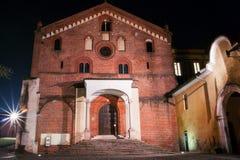 Church. Catholic church in italy Morimondo Milan Stock Photos