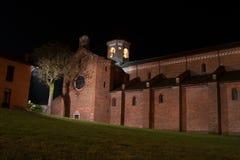 Church. Catholic church in italy Morimondo Milan Royalty Free Stock Photo
