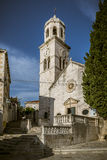 Church in cavtat, croatia Stock Photography
