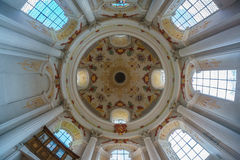 Church Ceiling. In the Benediktushof Holzkirchen royalty free stock photos