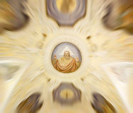 Church ceiling. With blured focus Stock Image