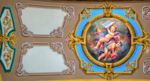Church ceiling painting Stock Images
