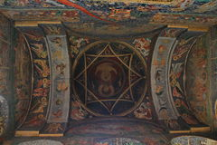 Church ceiling - paintings Stock Image