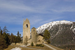 Church in Celerina Stock Photography