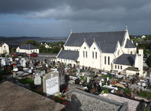 Church And Cemetery Adara County Donegal Ireland Stock Images