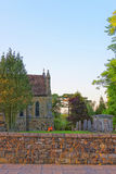 Church and cemetery in Battle in East Sussex in England Royalty Free Stock Images