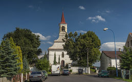 Church with cemetery in Dubicky village Stock Image