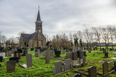 Church and Cemetery in Holland Royalty Free Stock Images