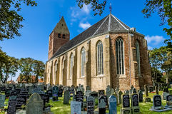 Church and yard on Ameland, Holland Royalty Free Stock Photography
