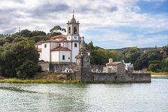 Church and cemetery of Los Dolores, Asturias, Spain. Royalty Free Stock Image