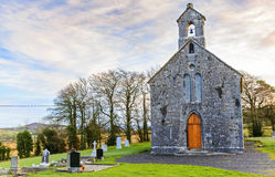 Church and cemetery Royalty Free Stock Photography