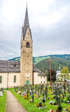 Church with cemetery in San Martino town - Italy Royalty Free Stock Photos