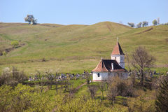 Church and Cemetery in Transylvania Stock Photos