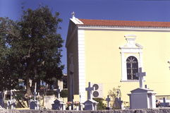 Church and cemetery in Zakynthos Stock Image