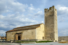 Church in the center of Cuellar town, Segovia province, Spain Stock Photography