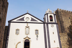 Church in the center of Obidos, Portugal Royalty Free Stock Photos