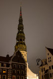 Church in center of Old Riga Royalty Free Stock Photography