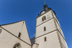 Church at the central market square of Detmold. Germany stock photo