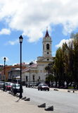 The Church on the Central square in Punta arenas. Stock Photography