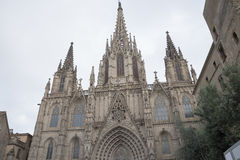 Church in the centre of Barcelona. Church is the work of the famous architect in Barcelona Royalty Free Stock Photography