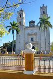 Church in centre of Colonial Town of Valladolid mexico Stock Images