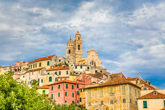 Church in Cervo Cervo During Sunset-Cervo,Italy Royalty Free Stock Photo