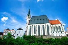 Church in Cesky Krumlov Stock Image