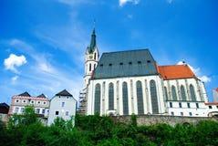 Church in Cesky Krumlov stock image