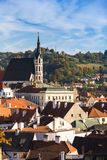 Church in Cesky Krumlov Stock Photos