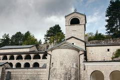 Church in Cetinje, Montenegro at summer Royalty Free Stock Photo