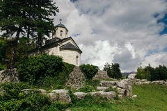 Church in Cetinje, Montenegro at summer Royalty Free Stock Photography