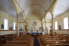 Church in Chacao village, Chiloe island, Chile Royalty Free Stock Photography