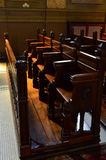 Church chairs Stock Images